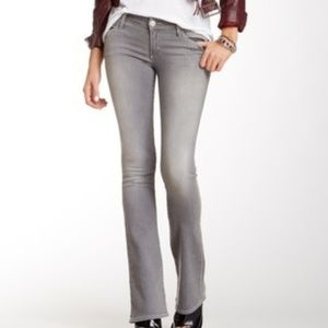 True Religion Grey Wash Lexy Jeans